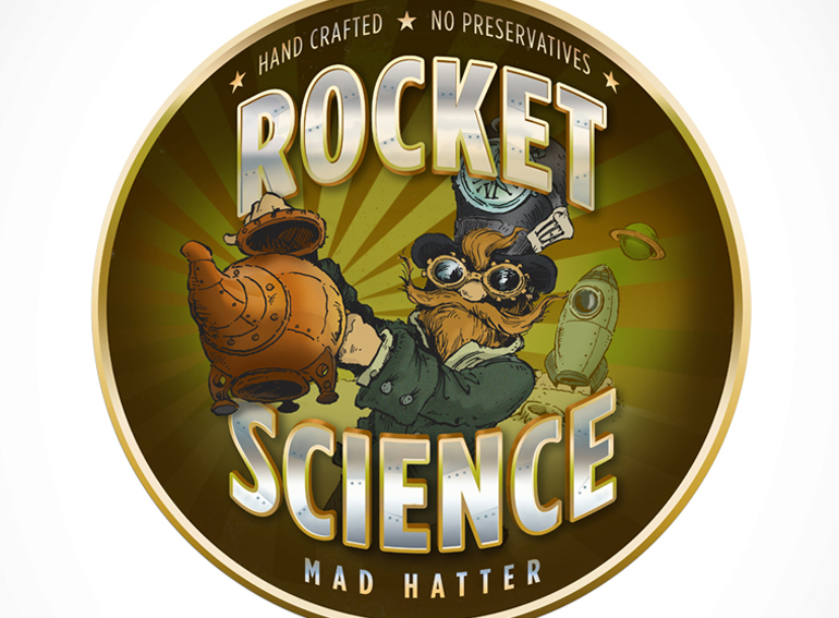 Rocket Science Mad Hatter logo